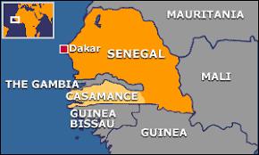 Mapa Casamance