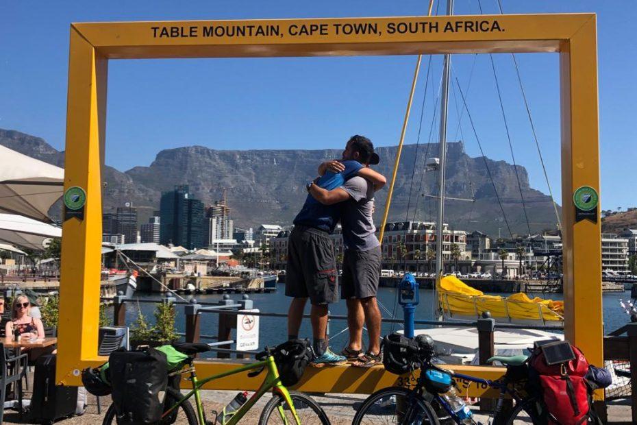 Alberto y Javi en Sudáfrica